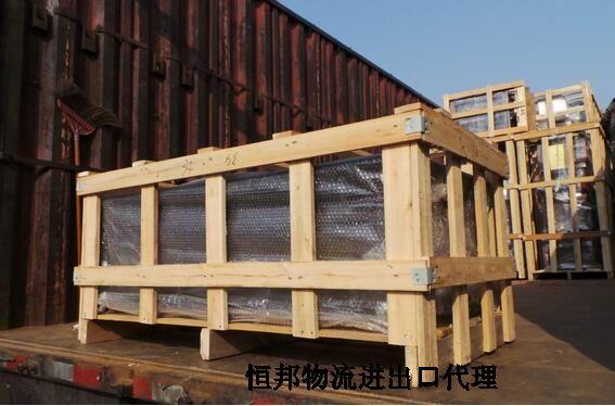 机械进口用木箱包装运输