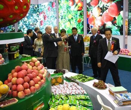 展会上各种台湾食品