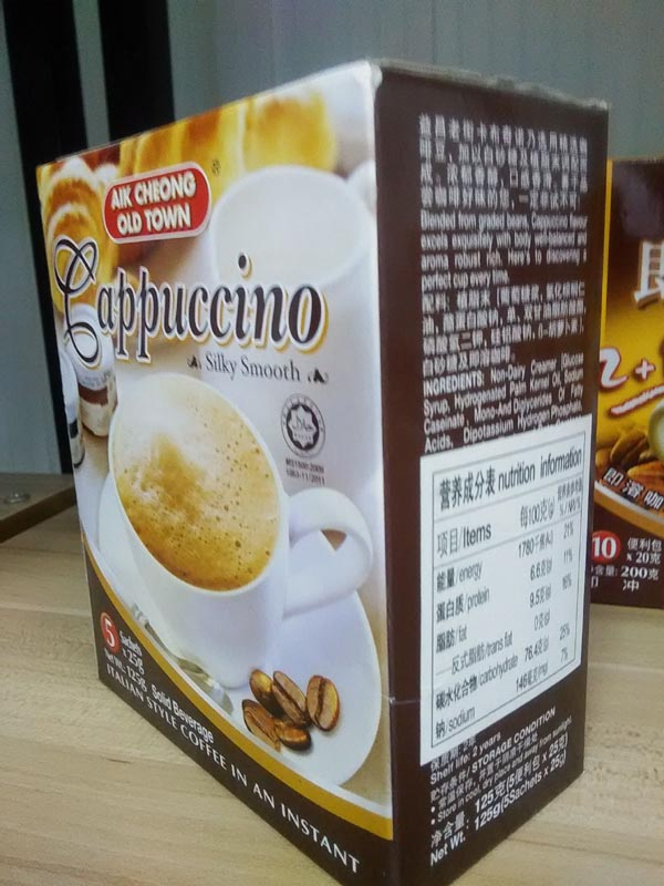 进口食品张贴中文标签