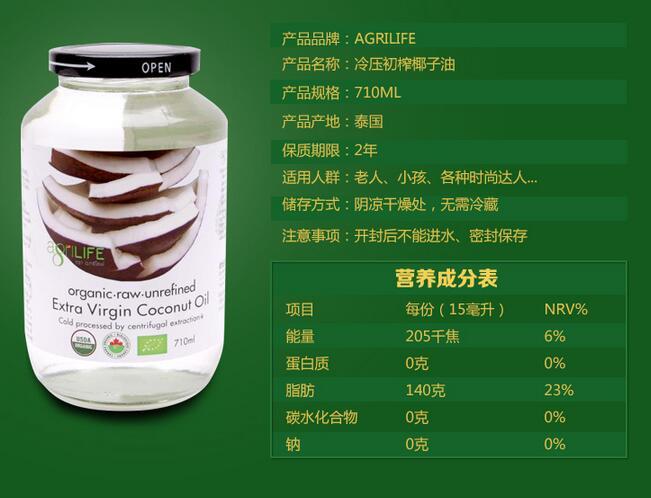 进口食品营养成分表