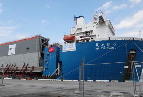 进口机械到达港口海关查验