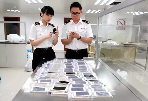海关查验进口手机屏幕