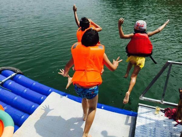 万绿湖体验游戏乐趣