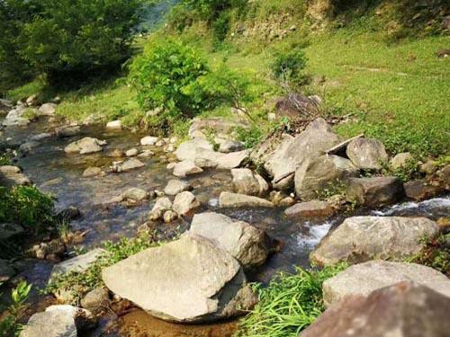 山涧小溪让人驻足良久