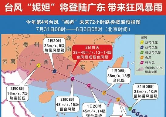 """台风""""妮妲""""登陆广东带来狂风暴露"""